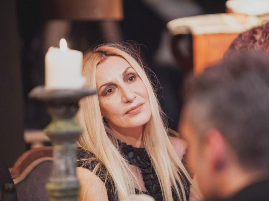 Alexandra Kollaros as Mary Magdalene Plan B trends event