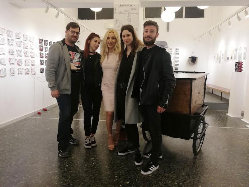 Alexandra Kollaros pop up show Ro Art Space Thessaloniki