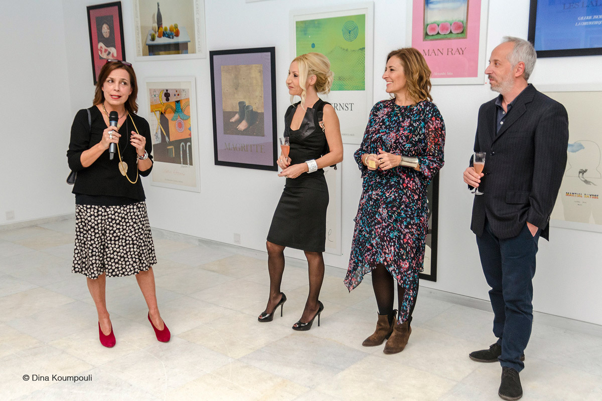 Alexandra Kollaros book launch in Zoumboulakis Gallery