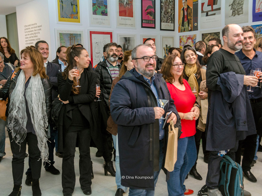 People in Alexandra Kollaros Greek Art from A to Z book launch in Zoumboulakis Gallery