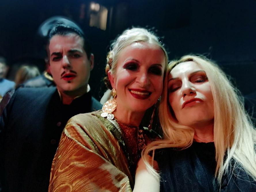Alexandra Kollaros with Athena Matisse and Nikos Giavropoulos at Plan B holy taste event